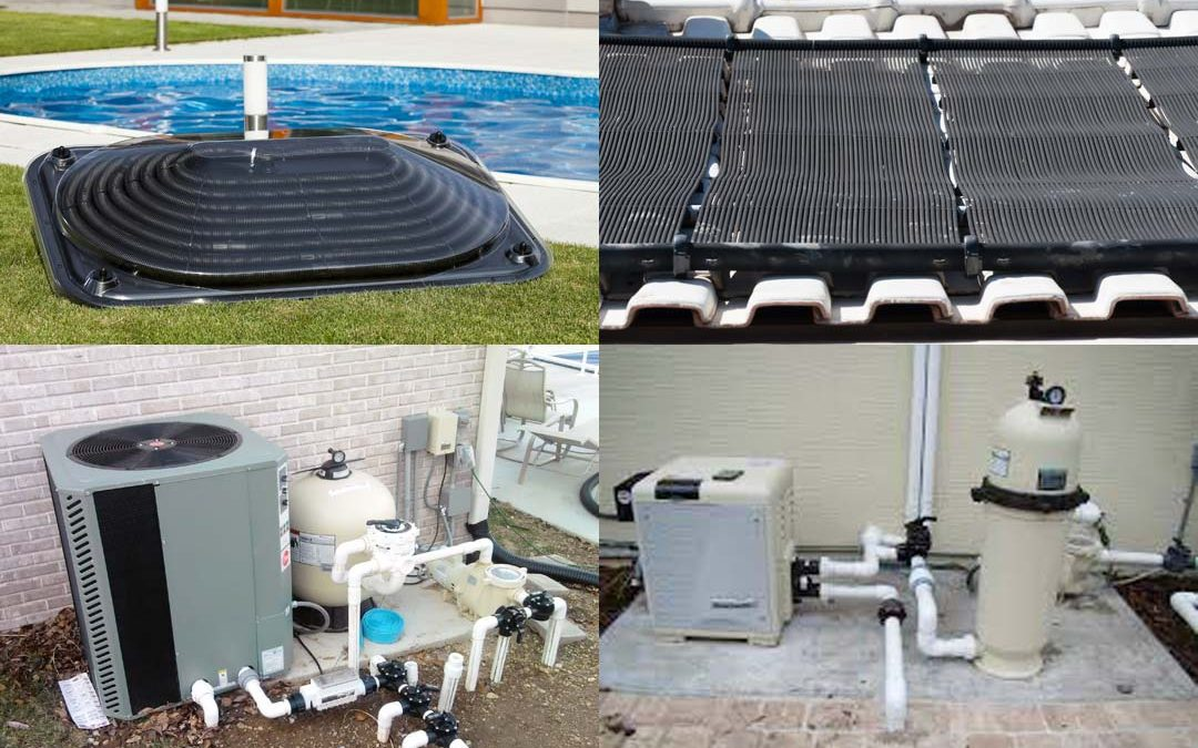 """How """"pool efficient"""" are the 3 main pool heater options?"""